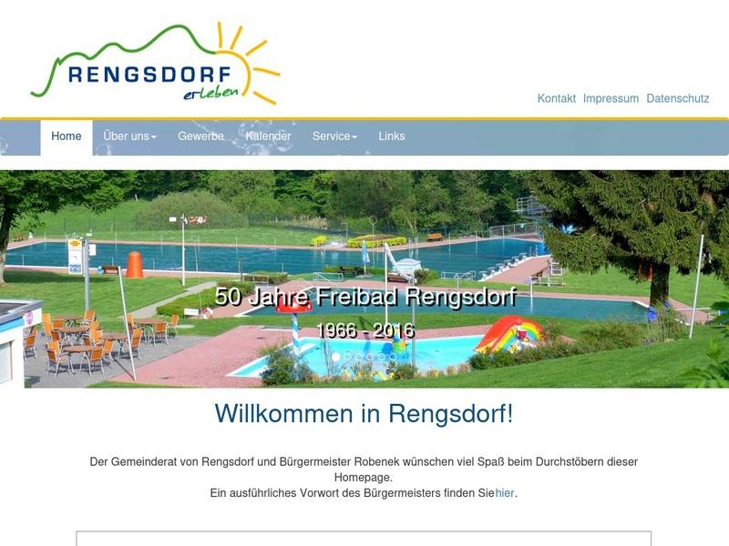 Screenshot von www.kurortrengsdorf.de
